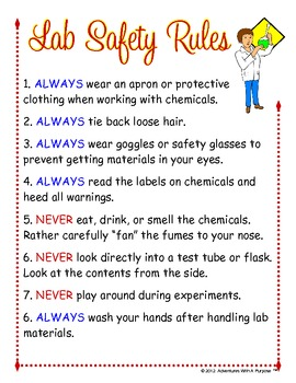 safety equipment instructions in the lab