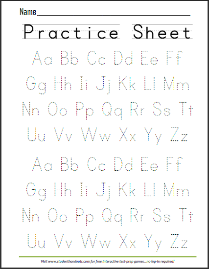 English writing practice worksheets pdf
