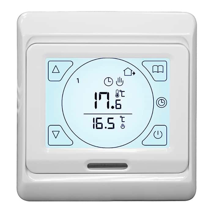 underfloor heating touch screen thermostat instructions