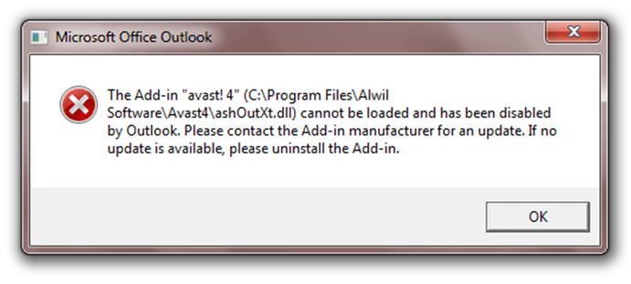 Avast how to add certificate to ms outlook