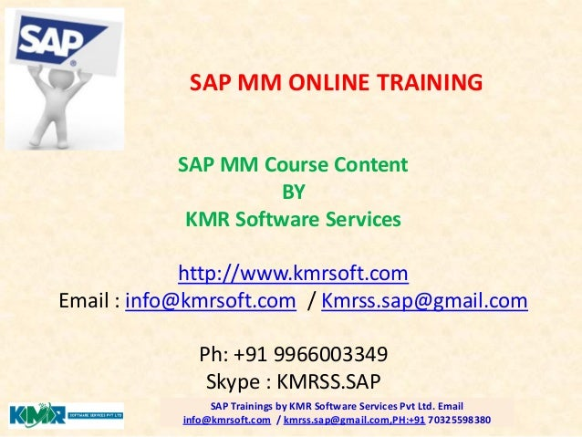 Sap mm course content pdf