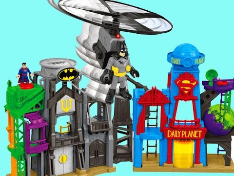 imaginext super hero flight city instructions