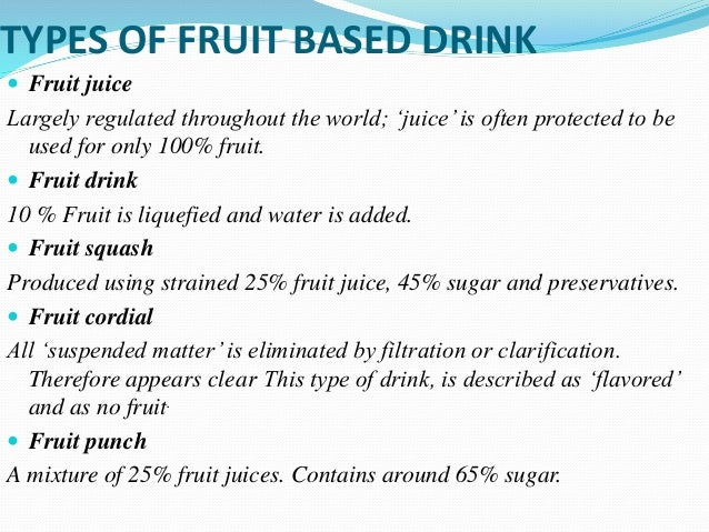 Types of non alcoholic beverages pdf